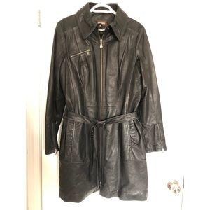 Danier Leather Belted Jacket